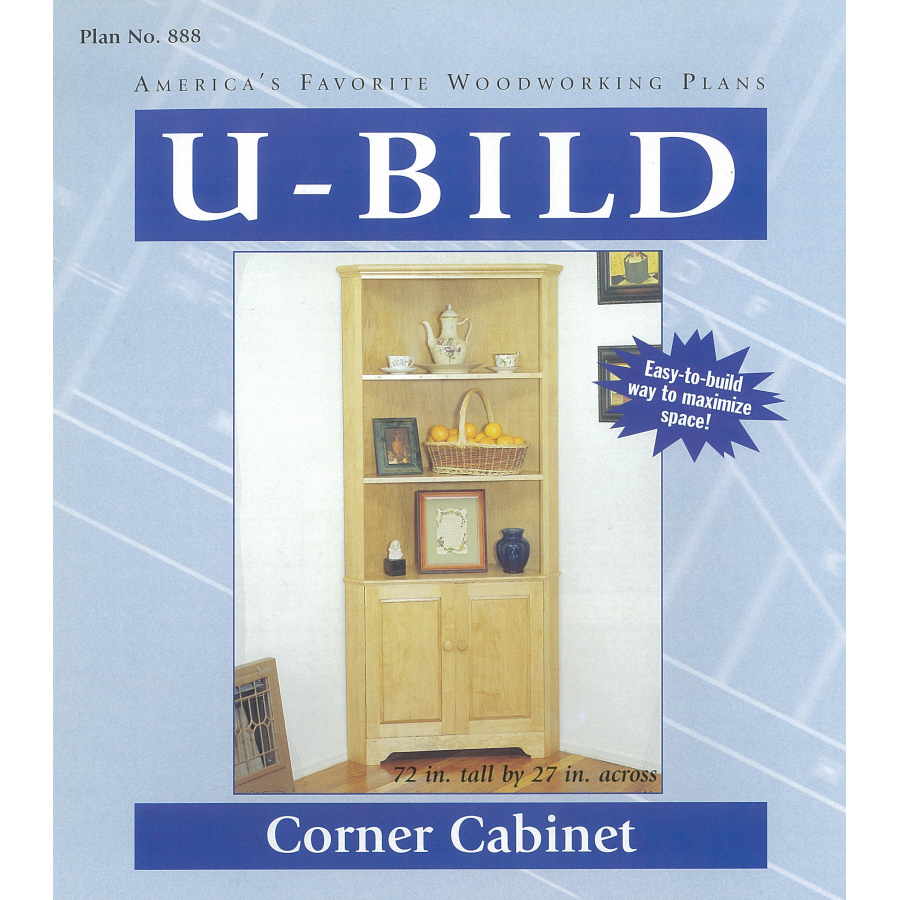 Popular Small Corner Cabinet Woodworking Plans  EBay