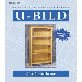U-Bild 2-in-1 Bookcase Woodworking Plan