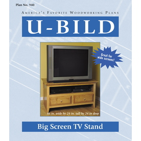 U-Bild Big Screen TV Stand Woodworking Plan