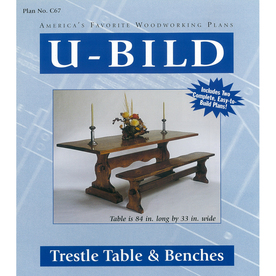 U-Bild Trestle Table and Benches Woodworking Plan