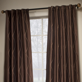 CURTAINS   Red Brown Panels