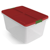Hefty 66 Quart Clear Tote with Latching Lid