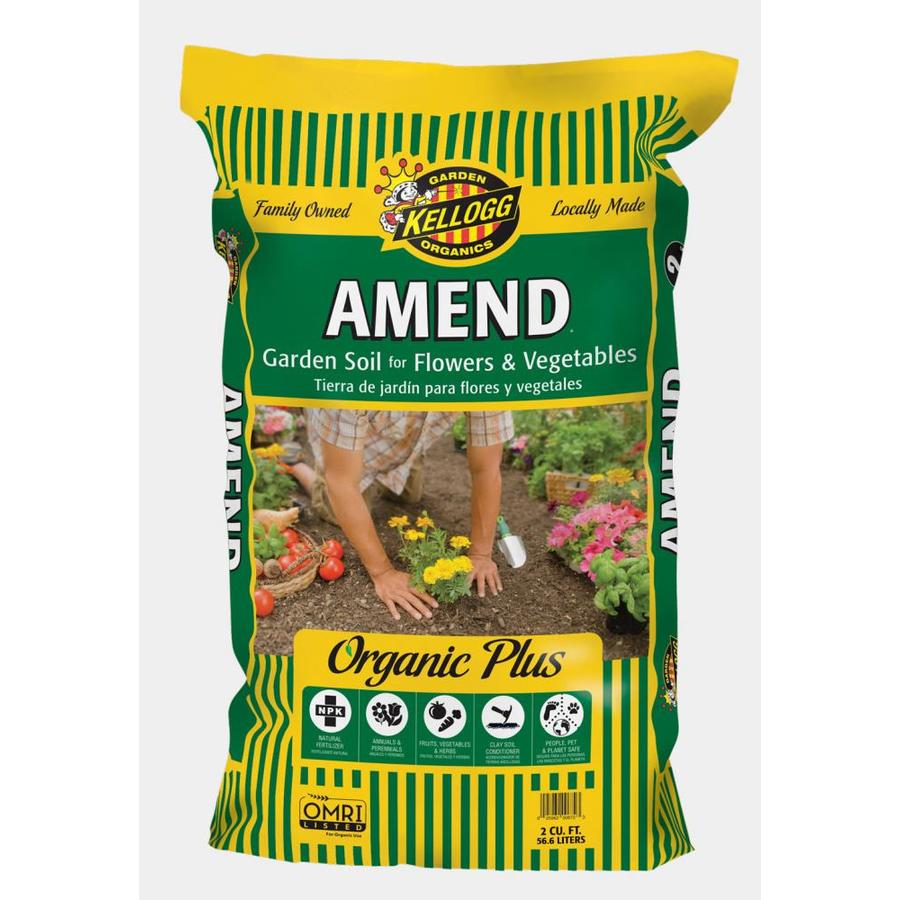 Shop kellogg 2 cu ft organic flower and vegetable garden for Organic soil