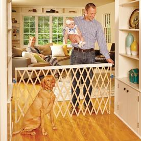 North States Industries, Inc. 60-in x 32-in Natural Wood Child Safety Gate