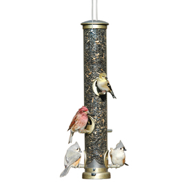 Aspects Quick Clean- Brass Seed Tube- Large Plastic Tube Bird Feeder