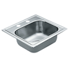 Moen Excalibur 22-Gauge Single-Basin Drop-In Stainless Steel Bar Sink