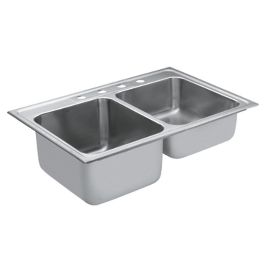 shop moen commercial 38in x 238in stainless steel