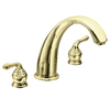 Moen Monticello Polished Brass 2-Handle Adjustable Deck Mount Tub Faucet