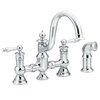 Moen Waterhill 2-Handle High-Arc Kitchen Faucet with Side Spray