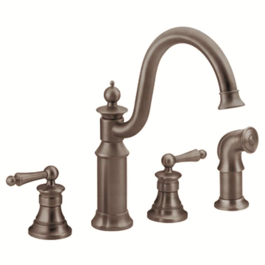 Kitchen Faucets Bronze: Shop Moen Waterhill Oil-Rubbed Bronze High-Arc Kitchen