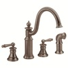 Moen Waterhill Oil-Rubbed Bronze 2-Handle High-Arc Kitchen Faucet with Side Spray