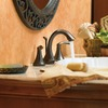 Moen Eva Oil-Rubbed Bronze 2-Handle Widespread WaterSense Bathroom Faucet
