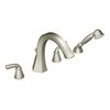 Moen Felicity Brushed Nickel 2-Handle Adjustable Deck Mount Tub Faucet