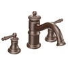 Moen Waterhill Oil-Rubbed Bronze 2-Handle Adjustable Deck Mount Tub Faucet