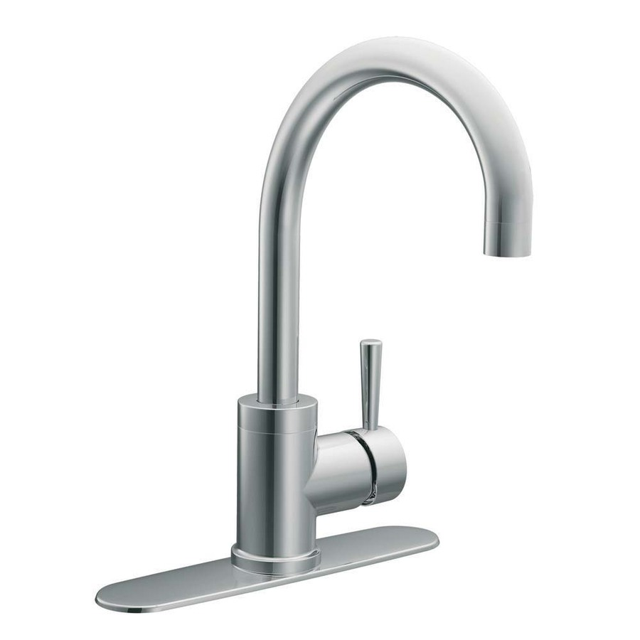 Shop moen level chrome 1 handle high arc sink counter - Lowes kitchen sink faucet ...