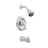 Moen Adler Chrome 1-Handle Tub and Shower Faucet with Multi-Function Showerhead