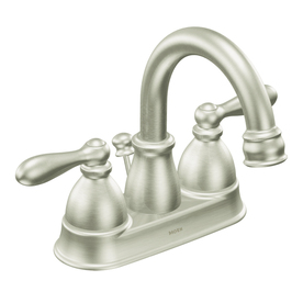 Moen Caldwell Brushed Nickel 2-Handle WaterSense Bathroom Faucet (Drain Included)