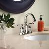 Moen Caldwell Chrome 2-Handle 4-in Centerset WaterSense Bathroom Faucet (Drain Included)
