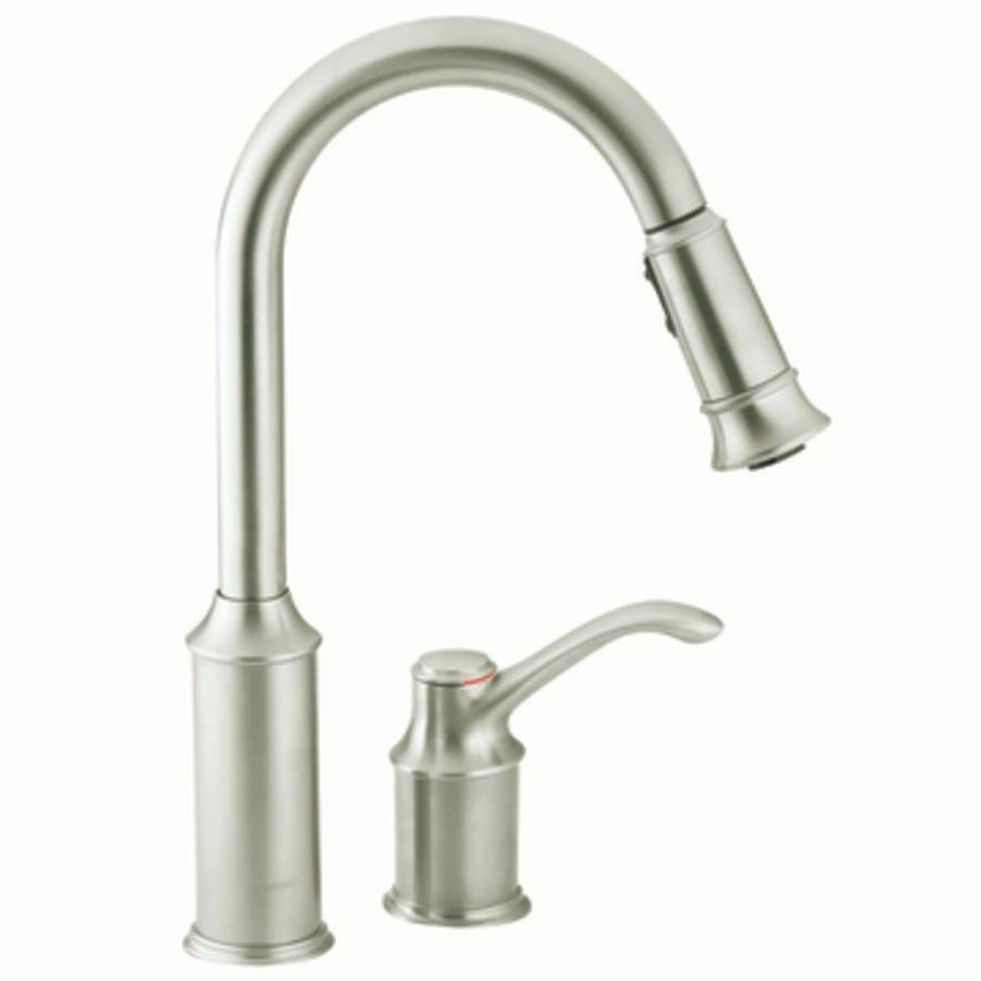 ... Moen Aberdeen Classic Stainless Pull-Down Kitchen Faucet at Lowes.com