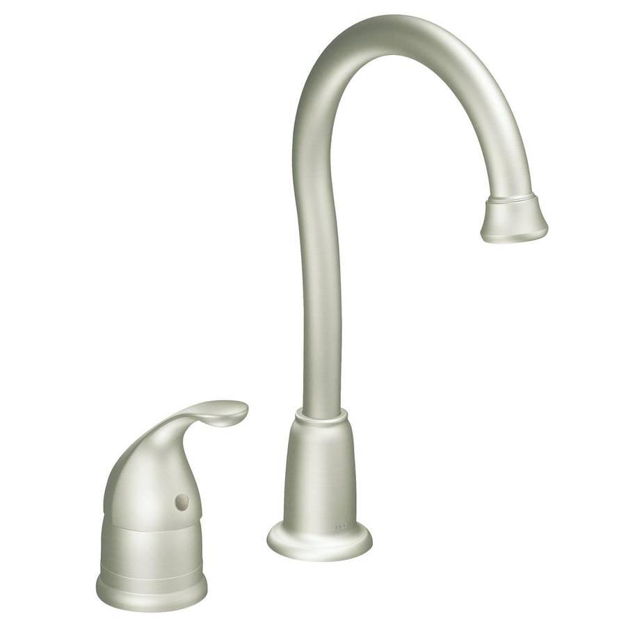 Restaurant Sink Faucet : Shop Moen Camerist Stainless 1-Handle Bar Faucet at Lowes.com