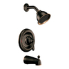 Moen Caldwell Mediterranean Bronze 1-Handle Tub and Shower Faucet with Single-Function Showerhead