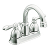 Moen Caldwell Chrome 2-Handle 4-in Centerset WaterSense Labeled Bathroom Sink Faucet (Drain Included)