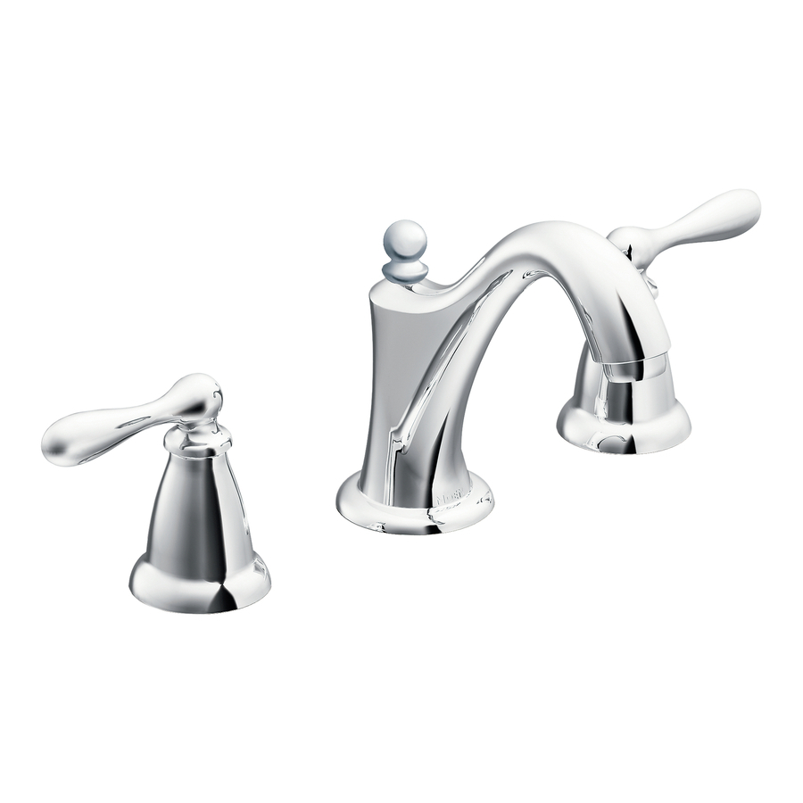 Shop moen caldwell chrome 2 handle widespread watersense for Bathroom sink faucets