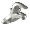 Moen Adler Spot Resist Brushed Nickel 1-Handle 4-in Centerset WaterSense Bathroom Faucet (Drain Included)