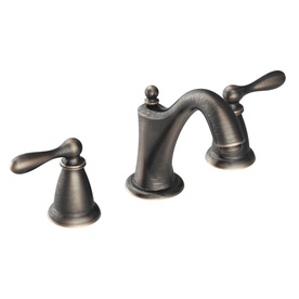Moen Caldwell Mediterranean Bronze 2-Handle Widespread WaterSense Labeled Bathroom Sink Faucet (Drain Included)
