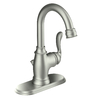 Moen Anabelle Spot Resist Brushed Nickel 1-Handle Single Hole WaterSense Bathroom Sink Faucet (Drain Included)