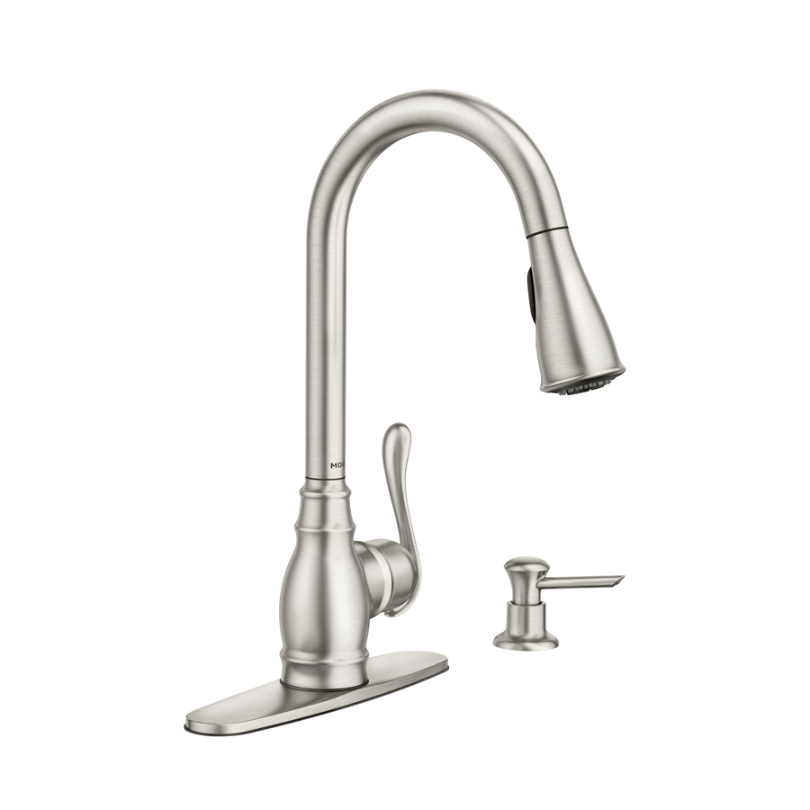 shop moen anabelle spot resist stainless 1 handle pull