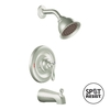 Moen Caldwell Spot Resist Stainless 1-Handle Tub and Shower Faucet with Single-Function Showerhead