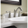 Moen Caldwell Spot Resist Brushed Nickel 2-Handle Widespread WaterSense Labeled Bathroom Sink Faucet (Drain Included)