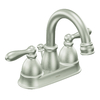 Moen Caldwell 2-Handle 4-in Centerset WaterSense Bathroom Faucet (Drain Included)