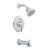 Moen Level Chrome 1-Handle WaterSense Bathtub and Shower Faucet Trim Kit with Single Function Showerhead