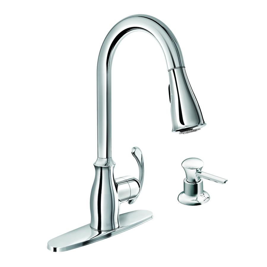 Shop Moen Kipton Chrome 1Handle PullDown Kitchen Faucet at Lowes.com