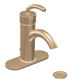 Moen Icon Brushed Bronze 1-Handle Single hole/4-in Centerset WaterSense Bathroom Sink Faucet (Drain Included)