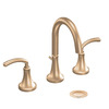 Moen Icon Brushed Bronze 2-Handle Widespread WaterSense Bathroom Sink Faucet