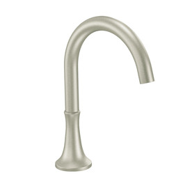 Shop Moen Icon Brushed Nickel Touchless Handle Adjustable Deck Mount Bathtub Faucet At