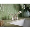 Moen Sage Spot Resist Brushed Nickel 2-Handle 4-in Centerset WaterSense Bathroom Faucet (Drain Included)