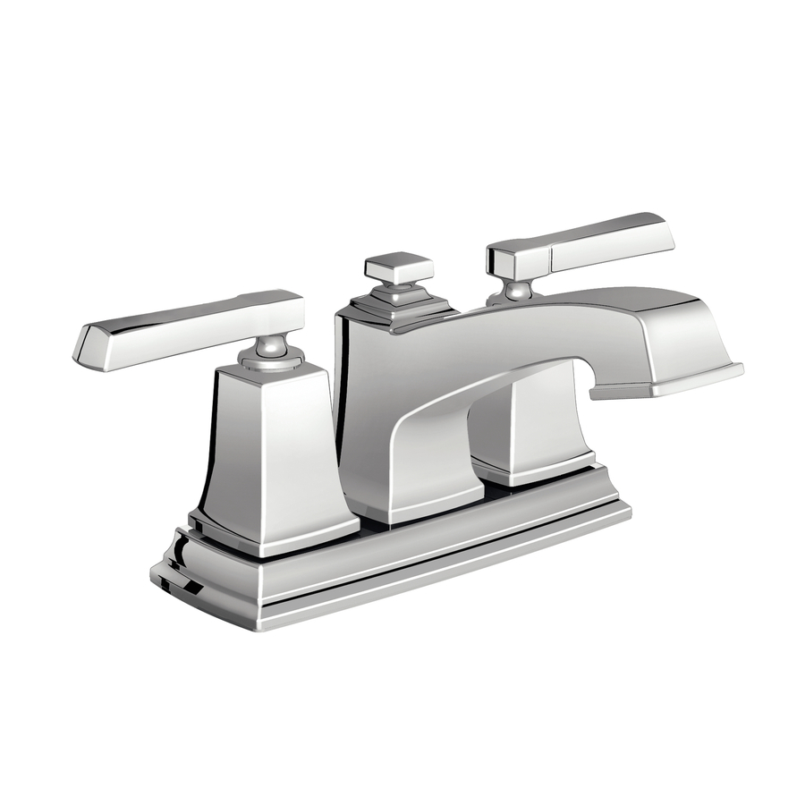 Shop Moen Boardwalk Chrome 2 Handle 4 In Centerset WaterSense Bathroom Sink F