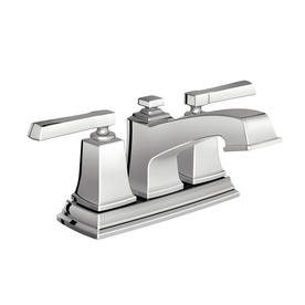 "Moen Boardwalk Chrome 2-Handle 4"" Centerset Watersense Labeled Bathroom Sink Faucet Drain Included"