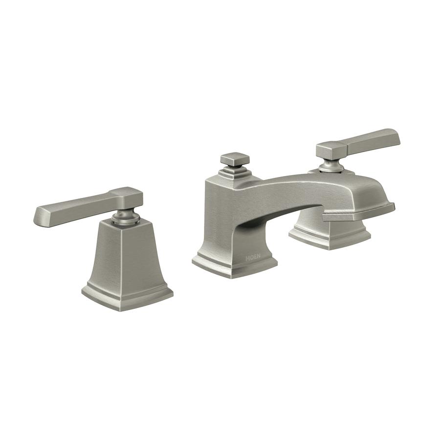 Bathroom faucets brushed nickel widespread - Shop Moen Boardwalk Spot Resist Brushed Nickel 2 Handle