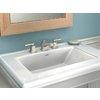 Moen Boardwalk Spot Resist Brushed Nickel 2-Handle Widespread WaterSense Bathroom Faucet (Drain Included)