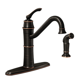 Shop Moen Wetherly Mediterranean Bronze 1 Handle High Arc Kitchen Faucet With