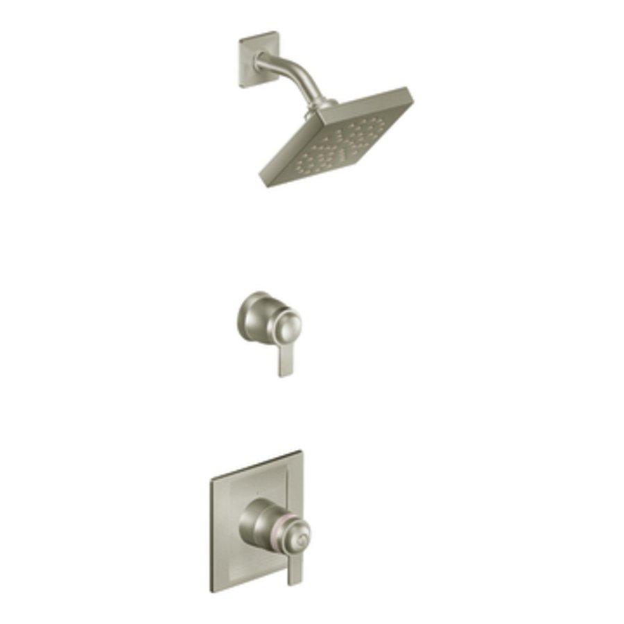Shop Moen Exacttemp Brushed Nickel 2 Handle Shower Faucet Trim Kit With Rain