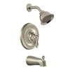 Moen Caldwell Trim Kit Spot Resist Brushed Nickel 1-Handle Tub and Shower Faucet Trim Kit with Single-Function Showerhead