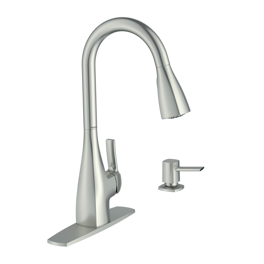 shop moen kiran spot resist stainless 1 handle pull down