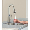 Moen Delaney with Motionsense Spot Resist Stainless 1-Handle Pull-Down Touchless Kitchen Faucet