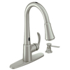 Moen Delaney Spot Resist Stainless 1-Handle Pull-Down Sink/Counter Mount Kitchen Faucet